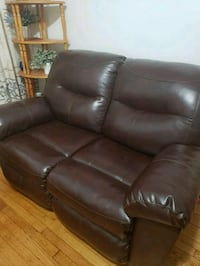 brown leather 2-seat sofa Queens, 11432