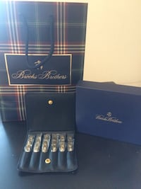 Brooks Brothers gold collar-stays set. Chevy Chase Village, 20815