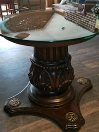 Wood and Glass Corner Table Canton, 44721