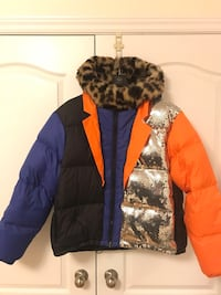 H&M Moschino Colour Block Down Jacket Size L 554 km