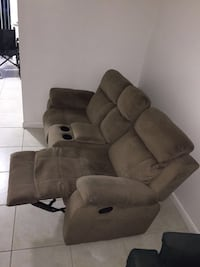 brown suede recliner sofa chair Miami, 33125