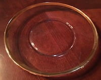 8 inch Salad / Dessert plate - clear glass with gold trim- set of 8 Bluemont, 20135
