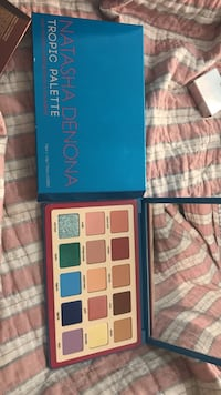 blue and white Natasha Denona makeup palette