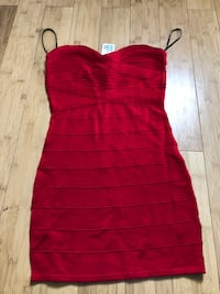 Red knit tube dress size m Barrie, L4N 6E4
