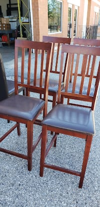 4 Wood Bar Chairs BOWIE