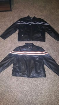 Nearly new leather jackets