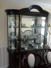 brown wooden framed glass display cabinet Washington, 20018