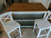 Ikea kitchen island and two stools Springfield, 22153