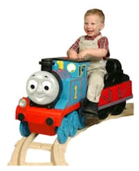 Thomas the Tank Ride in Train with Track Pieces
