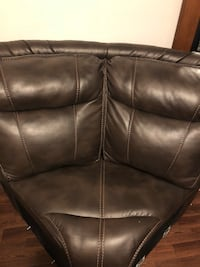 black leather 3-seat sofa Washington, 20024