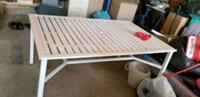 white metal table w/ chair Edmonton, T6L 5Z8