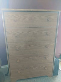 brown wooden 4-drawer chest Laval, H7S