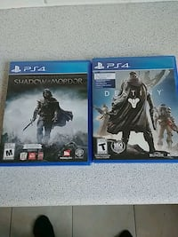 Sony PS4 Destiny and Shadow of Mordor Toronto, M4N 2B6