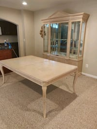 Dining room table and china cabinet beige Manassas, 20112