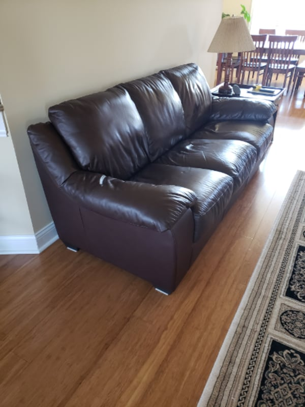 Sold Italsofa Brown Leather Couch Sofa