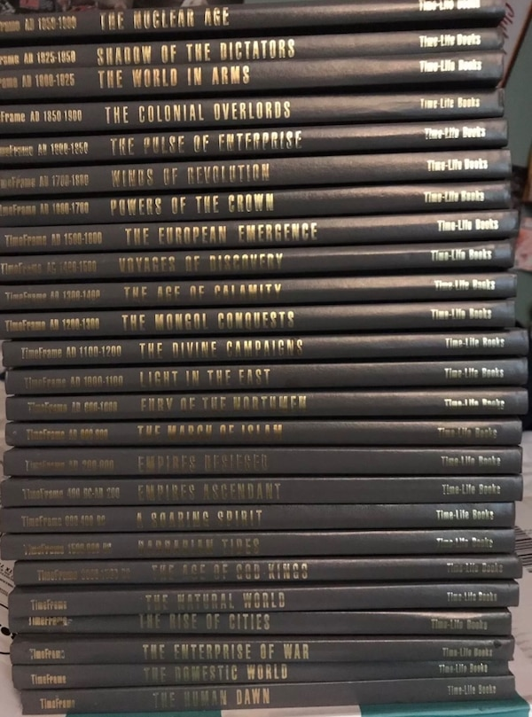 TIME-LIFE COMPLETE BOOK SET WORLD HISTORY 3000BC-1990