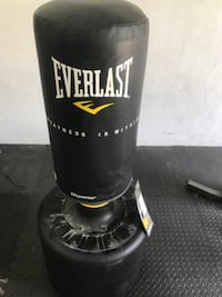 black and white Everlast heavy bag TAMPA