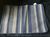 white and black stripe bath mat London