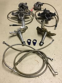 Yamaha blaster parts, extended a arms, clutch basket, front disk conversion, steering stabilizer  Ramsey, 07446