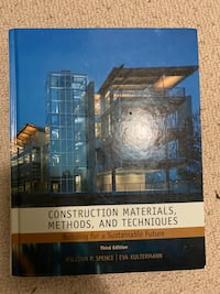 Construction materials, methods, and techniques Third Editions