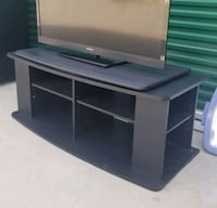 black wooden TV stand with cabinet Frisco, 75034