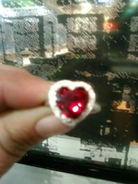 silver and red gemstone ring Las Vegas, 89147