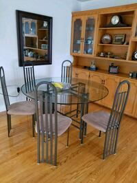 "54"" diameter Glass table with 6 chairs Kitchener"