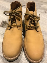 MENS Softmoc Jarvis wheat 3 eye leather lace up boot. Size 45