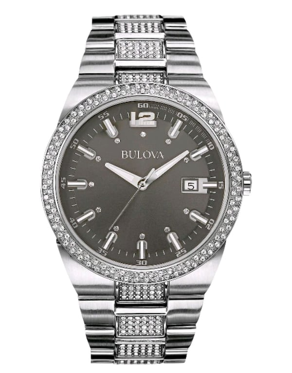 Bulova Men's Crystal Accent Stainless Steel Watch ff26aa46-3798-4691-814c-129aab8ee504