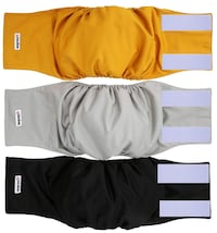 Dog Diapers (Pack of 3) - Washable MALE Dog Belly Wrap Englewood