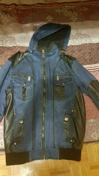 blue denim button-up jacket Toronto, M3N 1A2