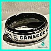 Silver & Black USC Gamecock Ring Cayce