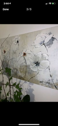 Flower Canvas Painting Montreal, H3G 1Y3