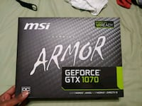 GTX 1070 MSi Armor 8GB OC Edition w/ Box! Vienna, 22181