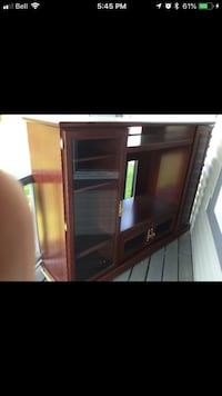 Brown wooden tv hutch  Edmonton, T6C 2B8