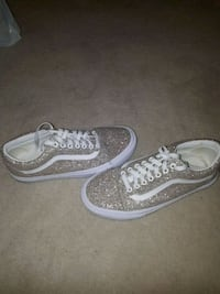 pair of sparkling gold Vans sneakers Toronto, M8Z 2X9