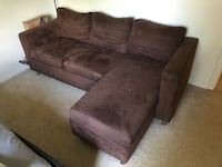 brown suede 3-seat sofa Lutherville Timonium, 21093