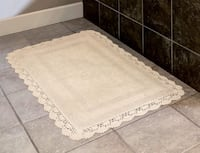 Laura Ashley Crochet Cotton Bath Rug, Linen 17x24in. Indianapolis, 46224