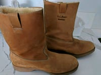 LL Bean suede leather boots. Men's size 9 1/2 2222 mi