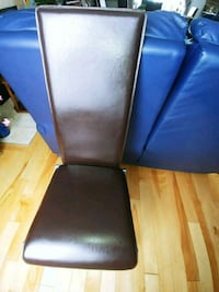 4 metal chair with leather cover in very good condition. $50 for all  Prévost, J0R