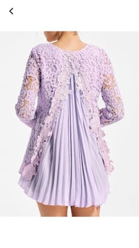 Women's purple and white floral dress Loranger, 70446