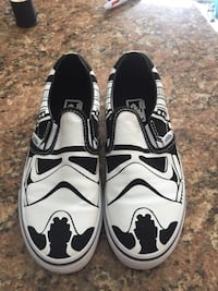 57c170aec230 Star Wars storm trooper Kids Vans slip on shoes brand new Marlborough