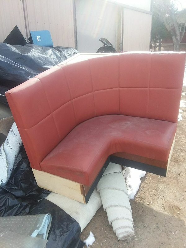 tufted red leather sectional sofa