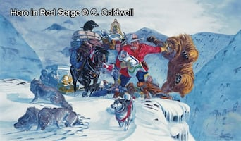 Hero in Red Serge by C. Coldwell