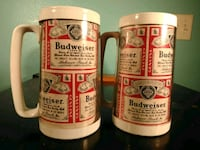 Set of 2 Vintage Budweiser Mugs  645 mi