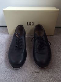 (Youth 7) Black Bloch Tap Shoes Vaughan