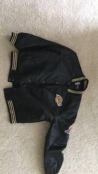 black Los Angeles Lakers letterman jacket 34 mi