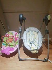 Baby swing and chair like new only 3 months Vaughan, L6A 0B6