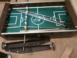 """Foosball table 54"""" long 2' wide and approx 41/2 high"""