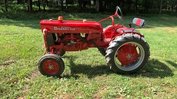 Farmall tractor has been restored.  Nice